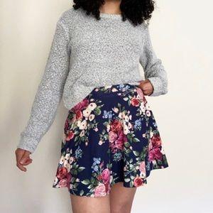 Forever 21 floral skater skirt
